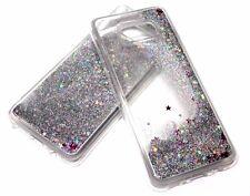 For Samsung Galaxy S8 Silver Glitter Stars Liquid Quicksand Water TPU Skin Case