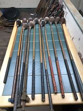 Hickory Golf Clubs 12x Large Head Woods Good Selection Of Makers Nice Condition