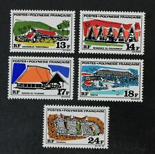 CKStamps: France Stamps Collection French Polynesia Scott#253-257 Mint H OG