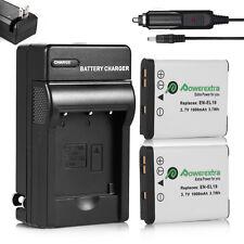 2Pcs EN-EL19 Battery&Charger for Nikon Coolpix S33 S7000 S6900 S3700 S3500 S5300