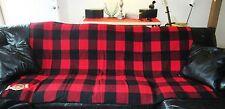 """Vintage Marlboro Plaid Check Wool Blanket. 59"""" X 73"""". NWT. Heavy & Nice."""