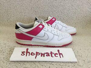🔥🔥🔥2008 VINTAGE Nike SB Dunk Low white/pink 311730-115 sneakers Size 13