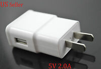 US Plug 2A Home Wall Charger USB AC Power Adapter For Samsung Galaxy S5 Note 3 4