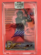 Austin Meadows 2018 Topps Clearly Authentic RC On Card Clean Autograph🔥Pirates