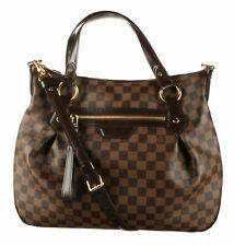 LOUIS VUITTON Brown Damier Ebene Canvas Evora MM Bag