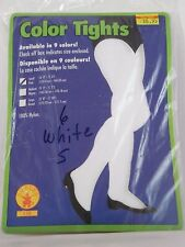 Size Small White Opaque Women's Nylon Tights Rubies Dance Costumes Halloween