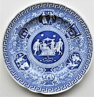 """Spode Blue Room Collection Greek Plate 9"""" First Introduced c1806 Made in England"""