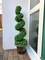 Pair of Extra Large SPIRAL TREE Boxwood Artificial Realistic Tree Indoor Outdoor