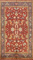 Hand-Knotted Geometric Indo Heriz Oriental Traditional Area Rug 5x8 Wool Carpet