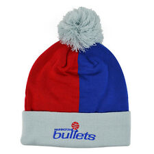 Washington Bullets OVER AND BACK KNIT Mitchell & Ness Cuffed Pom NBA Hat