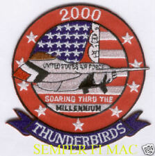 2000 THUNDERBIRDS US AIR FORCE PATCH F16 FALCON PIN UP NELLIS AIRSHOW PILOT WING