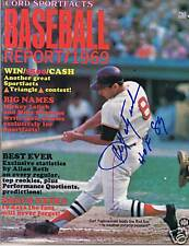 Carl Yastrzemski Autograph / Signed 1969 Baseball Report Magazine Boston Red Sox