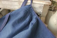 Antique French Country blue APRON Indigo blue dyed textile work wear