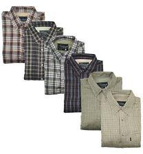 Micro Fleece Lined Country Long Sleeve Check Warm Shirts Farming Fishing Outdoor