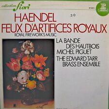 MICHEL PIGUET/BANDE HAUTBOIS/EDWARD TARR BRASS feux d'artifice royaux HAENDEL LP