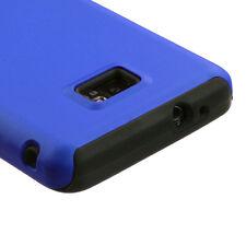 Straight Talk Samsung Galaxy II 2 S959G Hybrid Rubber Skin Case Cover Blue Black