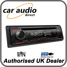 Kenwood KDC-120UR - CD MP3 USB RDS Radio Receiver Red Key Illumination