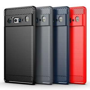 For Google Pixel 6 / 6 Pro 5G Case, Slim Carbon Fibre Shockproof Gel Phone Cover