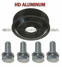 ALUMINUM HD Water Pump Pulley + BOLTS fr BMW E60 E65 E66 E70 X5 11517504077 Set5