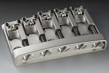 NEW Schaller High Mass 5 String Bass BRIDGE Chrome Adjustable w/ Rollers Badass
