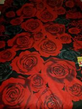 Beautiful red black floral 100% cotton bed sheet with 2 pillowcases