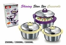 Asian STAR shining star 3pc en acier inoxydable (double paroi isotherme isolé)