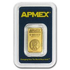 5 gram Gold Bar - APMEX (In TEP Package) - SKU #63283