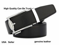 One Casual genuine Leather Mens Belt with Zinc Alloy Buckle Waist Gift #VB005