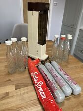 Vintage 1970s 80s Soda Stream 101 9 Bottles Gas Canisters Complete VGC