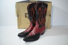 HARLEY-DAVIDSON RED & BLACK LEATHER WESTERN COWBOY RIDING BOOTS WOMENS Size 6