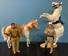 Lone Ranger, Tonto, Silver, and Scout 1973 Gabriel Action Figures Set