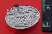 Disney SMALL Metal Chaser Pin Badge Hidden Mickey Goofy Character Skiing