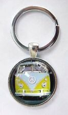 VW VAN BUS KEYCHAIN / Pendant VINTAGE Yellow  VOLKSWAGEN Camper RETRO 1960's