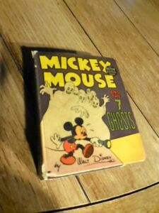 1940 Mickey Mouse and the 7 Ghosts BLB Big Little Book #1475 VG/F