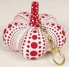 "YAYOI KUSAMA 'Dots Obsession Soft Pumpkin Sculpture Keychain Multiple 5"" Wht/Red"