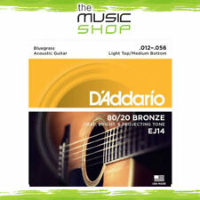 D'Addario EJ14 80/20 Bronze Bluegrass Acoustic Guitar Strings - 12-56 - Daddario