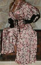 S SATIN CHRISTIAN DIOR VINTAGE LINGERIE NIGHTGOWNNEGLIGEE M  ROBE SET