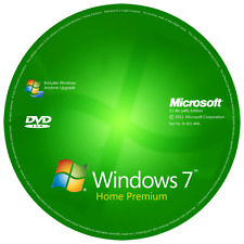 Windows 7 Home Premium 32-Bit instalación y formato HDD DVD Disco y la clave de producto