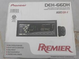 Pioneer Premier DEH-66DH Mosfet 45Wx4 New Open Box Removable Faceplate Remote GL