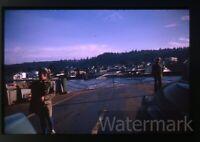 1960s 35mm Photo slide  Mukilteo car ferry ship Washington