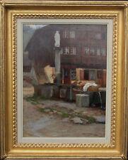 HAROLD SPEED OIL PAINTING SWISS ALPS WASSEN 1894 ART EX CHRISTIES 1872-1957