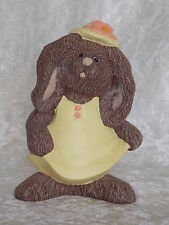 Brand New Ceramic Girl Brown Bunny Rabbit Animal Figurine Ornament Decoration.
