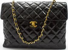 Chanel 2.55 Borsa shoulder bag matelassé VERNICE brevetto A TRACOLLA Enamel XL