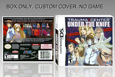 NINTENDO DS : TRAUMA CENTER UNDER THE KNIFE. ENGLISH. COVER + BOX. (NO GAME).