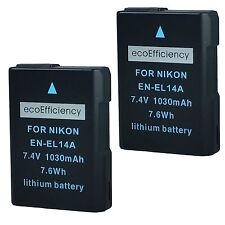 ecoEfficiency 2 EN-EL14, EN-EL14A Batteries for Nikon D3100, D3200, D3300, D3400