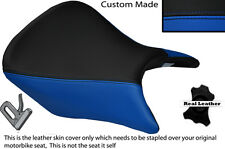 ROYAL BLUE & BLACK CUSTOM FITS HONDA CB 500 13-14 FRONT LEATHER SEAT COVER ONLY