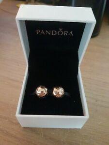 Genuine Stamped Pandora Rose Gold Clips X2 In Box