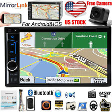 2Din Car Stereo CD DVD Player Touchscreen Radio Bluetooth AM FM USB+ Park Camera