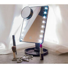 Touch LED Luce Illuminato Make Up Cosmetici vanità specchio con lo zoom-in UK
