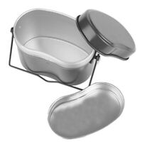 MagiDeal Picnic Army Soldier Mess Kit Lunch Box Canteen Kettle Pot Food Bowl